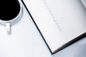 agenda, appointment calendar, coffee