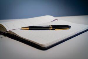 pen, calendar, planning